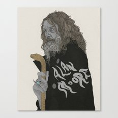 Alan Moore Canvas Print