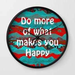 Keep Calm & Create Something Beautiful by Kylie Fowler Wall Clock