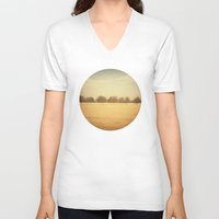 denmark V-neck T-shirts featuring Travelling Memories: Pure Nature (Denmark) by JTE Photography