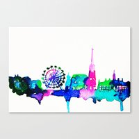 vienna Canvas Prints featuring Vienna by Talula Christian