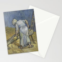 Vincent van Gogh - Peasant Woman Bruising Flax (after Millet) Stationery Cards