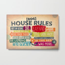 House Rules By Stephen Fowler Metal Print