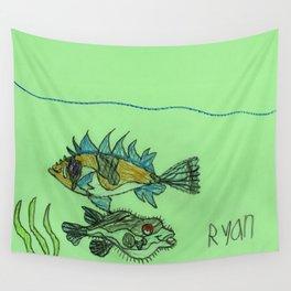Foxface & Fugu Fish Wall Tapestry