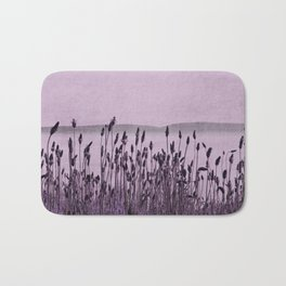 Purple Nature by the sea Bath Mat