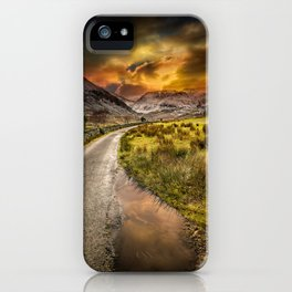 Valley Sunset Snowdonia iPhone Case
