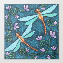 Dragonfly Dance, by Soozie Wray Canvas Print