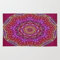 kaleidoscope Area & Throw Rugs featuring Kaleidoscope by Zenya Zenyaris