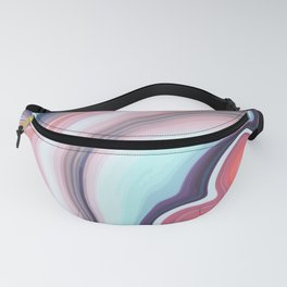 Vintage colors Agate Gem Fanny Pack