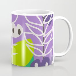 Floral style in purple Coffee Mug