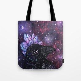 Crystal Crow Tote Bag