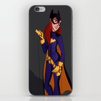 batgirl iPhone & iPod Skins featuring Batgirl by Angie Nasca