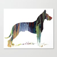 great dane Canvas Prints featuring Great Dane by FurittusDesigns