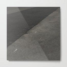 Grey shapes Metal Print