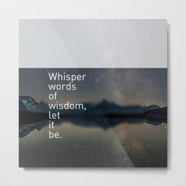 Words ~ Lyrics ~ Whisper Metal Print