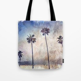Palm Trees Watercolor Tote Bag