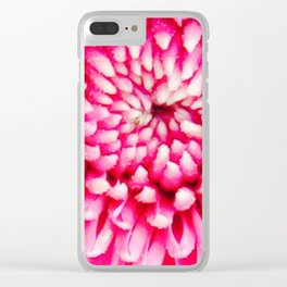Cherry Pie Dahlia Clear iPhone Case