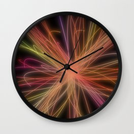 threads of light Wall Clock