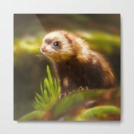 cute ferret Metal Print