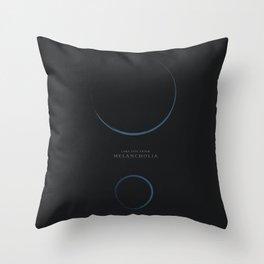Melancholia, Lars Von Trier, minimalist movie poster Throw Pillow