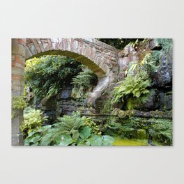 A Stone Arch Decorates the Garden Canvas Print