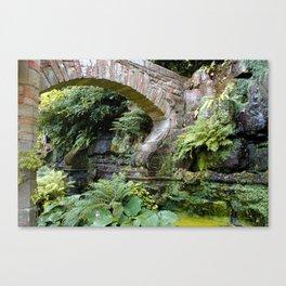 A Stone Arch Decorates the Garden Canvas Print