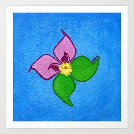 Wild Pinwheel in Full Bloom Art Print