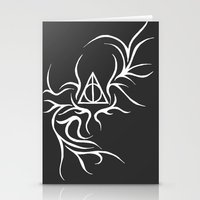 deathly hallows Stationery Cards featuring Deathly Hallows - inverted by Ria-Ra