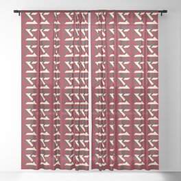 TYPOGRAPHY SIZE XS Sheer Curtain