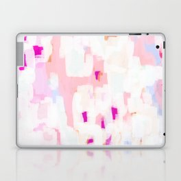 Netta - abstract painting pink pastel bright happy modern home office dorm college decor Laptop & iPad Skin