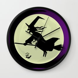 Witch and the Moon Wall Clock