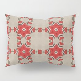 Red Hearts & Flowers Pillow Sham