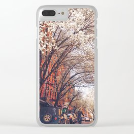 NYC Cherry Blossoms on the Lower East Side Clear iPhone Case