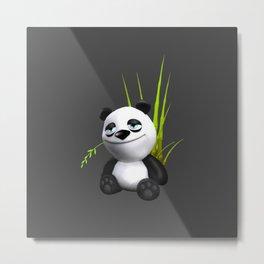 Cute Panda Metal Print