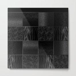 Gray and Black Jungle Animal  Patterns Metal Print