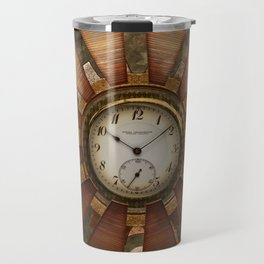 Steampunk with clocks and gears Travel Mug