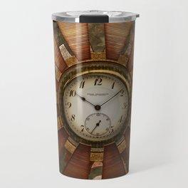 Steampunk with clocks and gears Travel Mug