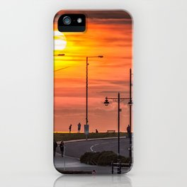 Sunset at Porthcawl iPhone Case