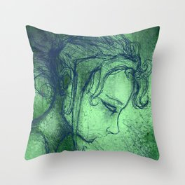 Green and blue V2 Throw Pillow