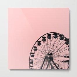 Ferris Wheel (Pink) Metal Print