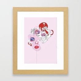 Untitled Pink Framed Art Print