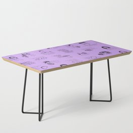 Gilmore Girls Quotes in Purple Coffee Table