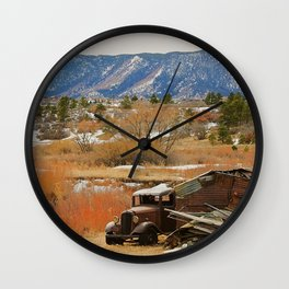 Autumn Jalopy Wall Clock