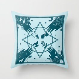 Spell circle Throw Pillow