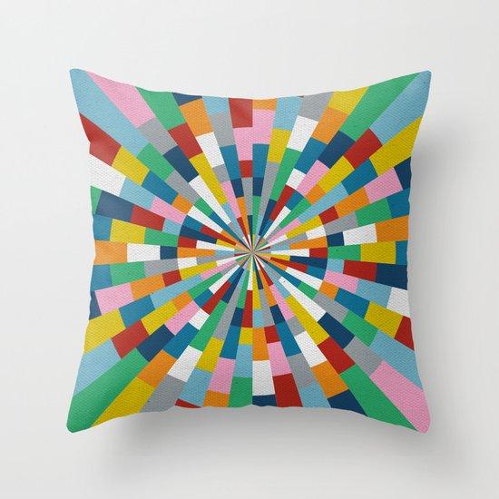 Tick Tock Brick Throw Pillow