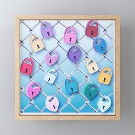 Love Locks Framed Mini Art Print