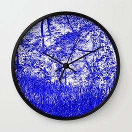 The Blue Forest Wall Clock