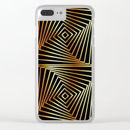 Rotating squares Clear iPhone Case