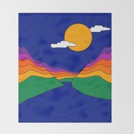 Rainbow Ravine Throw Blanket