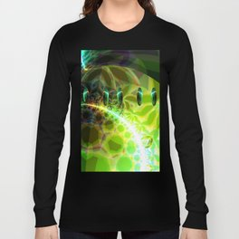Dawn of Time – Abstract Lime & Gold Emerge Long Sleeve T-shirt