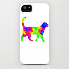 Rainbow Square Cat Inverted iPhone Case